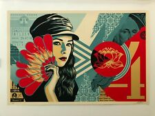 Shepard Fairey Fan the Flames screen print Obey Giant art poster Supreme Andre