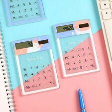 8-Digit Cute Portable Mini Transparent Calculator Solar Energy School Supplies