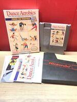 Nintendo Nes Game Dance Aerobics CIB Complete In Box