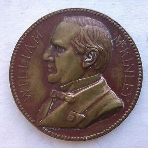 1901 medallion WILLIAM MCKINLEY Inauguration/Assassination Charles E. Barber
