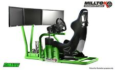 Milltek Innovation Racing Simulator Frame For Ultimate Gaming Chair 3x Screens