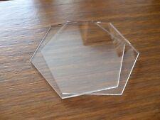 "4 inch Hexagon  Ganaching Plates Acrylic Cake Decorating Discs 4"""