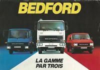 BEDFORD CF, TL & TM BROCHURE. RARE ITEM OCTOBER 1982 [FRENCH MARKET]