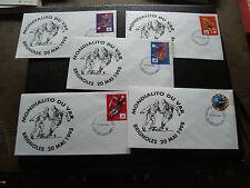 FRANCE - 5 enveloppes 20/5/1998 (mondialito de brignoles) (cy58) french