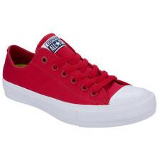 Unisex CONVERSE CT OX salsa unisex Reino Unido 5 II Rojo Lona Informal Tenis 150151 C