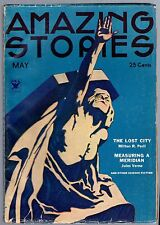 GLOSSY UNREAD! 1934 25c AMAZING STORIES Pulp Mag! NRA-Emblem! JULES VERNE Story