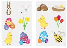72 x Easter Temporary Tattoos