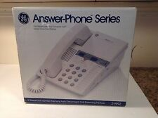 GE  MIB Answer Phone Series Model 2-9892 12 Telephone Numbers Auto disconnect