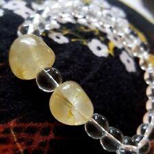 "Healing Energy Himalayan Gold Azeztulite & Water Crystal Nugget Bracelet  7.5"""