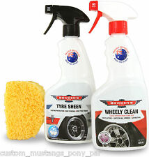 Bowden's Own Tyre Sheen Shine Cleaner Mothers Meguiars Turtle Wax Show BFG HSV