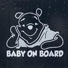 Baby Winnie l'ourson à Bord Autocollant Voiture Vinyle Autocollant pour Fenêtre panneau pare-chocs