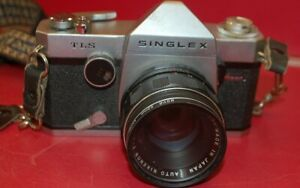 Vintage Ricoh Singlex TLS Camera with Many Accessories ~ FREE SHIPPING