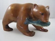 Whittler's Mother Wooden Hand Carved Bear Ed Hasbrouck Figurine Statue