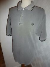 MENS FRED PERRY 80s CASUALS GREY TWIN TIP GOLF MOD SHORTS JEANS POLO TSHIRT M
