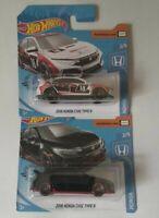 Set 2018 Honda Civic Type R x2 Hot Wheels 2020 Mattel Nuevo