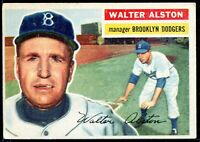 1956 Topps #8 Walter Alston Brooklyn Dodgers