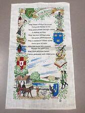 New listing Vintage New Linen Crystal Kitchen Hand Tea Towel An Irish Blessing Orig Sticker