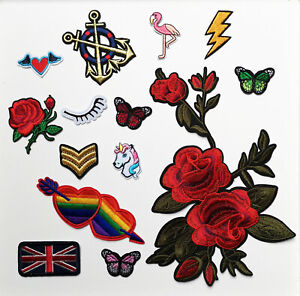 Embroidered Applique Iron/Sew on Applique Patch Badge Crafts/Kids/Jeans