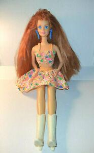 1976 Superstar Face Barbie (Teresa?) Red Hair Twist 'N Turn