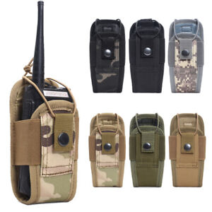 Outdoor Tactical Molle Radio Walkie Talkie Pouch Waist Bag Holder Pocket Holster