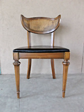 Rare Shelby Williams Dining Chair Mid Century Modern Caned Single Black Vinyl