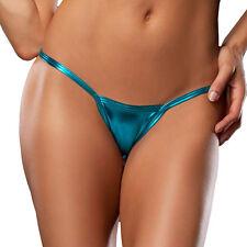 Women Metallic Lingerie Panties Briefs Underwear Bikini G-String Micro Thong