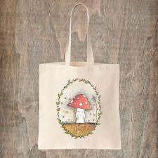 Toadstool Tote Bag-Foresta Fata Pixie FUNGO Cotton Canvas Tote Bag