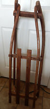 Antique Kids Wooden Runner Sled Toboggan Barn Farm Primitive Rustic Cabin Decor
