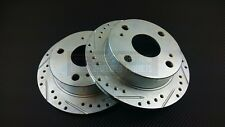 P2M Zinc Coated Slotted Drilled REAR Brake Rotors Corolla AE86 GT-S SR-5 New