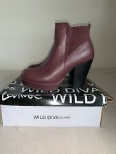 Wild Diva Oxblood Colored Booties US Sz 10