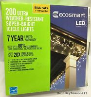 7 boxes - 200 Ecosmart LED Warm White Icicle Lights-Christmas-Bulk ...