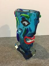 Murano Glass Sculpture Homage to Picasso by Walter Furlan Venetian Faces