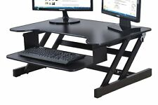 Stand Up Computer Desk Adjustable Laptop Stand Workstation Table Riser Office
