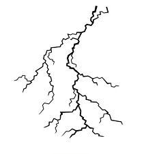 high detail airbrush stencil lightning 5 FREE UK POSTAGE