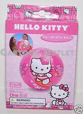"""SANRIO HELLO KITTY BEACH BALL 20"""" TOY GIRLS BIRTHDAY GIFT 100% ORIGINAL PINK NIP"""