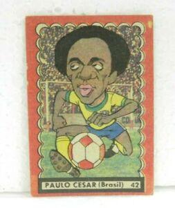 PAULO CESAR (BRAZIL) Nº 42 1977 ORIGINAL FOOTBALL SOCCER CARD