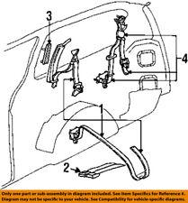 CHRYSLER OEM Rear Seat Belt-Buckle Retractor Assembly SL701AZAA