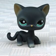 Littlest Pet Shop LPS #994 Toys Black Short Hair Cat Blue Eyes Cute Kitty Rare