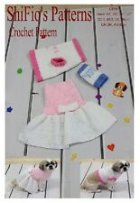 CROCHET PATTERN for DOG DRESS & SWEATER  S, M, L, XL #66 NOT CLOTHES