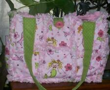 Pink Lime Mermaid Raggy Rag Quilt DiaperBag Bag Tote Purse Adorable