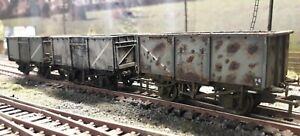 Bachmann mineral wagon (Weathered ) X 3