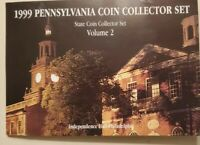 1999 State Quarters Vol 2 PENNSYLVANIA collector set Uncirculated 1st yr issue