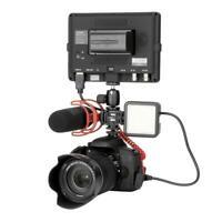Ulanzi Kamera 3 Blitzschuh-Adapter Mikrofon LED Videoleuchte für DSLR-Kamer