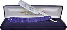 Hen & Rooster Straight Barber Salon Razor Standard Edge Shaving Knife Blade Blue