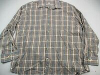 Peter Millar Men's Large Blue Plaid L/S Button Down Golf Dress Shirt