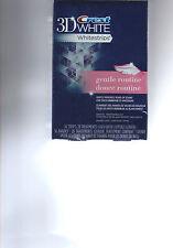 CREST 3D White Whitestrips Gentle Routine Teeth Whitening 14 strips in 7 Pouches