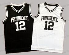 GOD SHAMMGOD #12 Providence Men Basketball Jersey Black White Stitiched