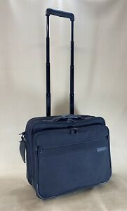 Briggs & Riley Baseline Carry On Rolling Oversized Computer Case Black BRW60