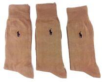 Polo Ralph Lauren Brown Solid Crew Socks 3-Pack