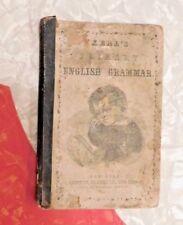 ANTIQUE 1860 PRE CIVIL WAR KREEL's PRIMARY ENGLISH GRAMMAR SCHOOL BOOK